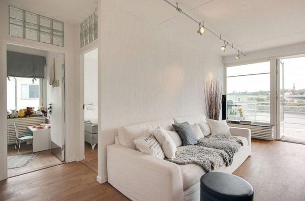 schönes weißes dach apartment weiß essecke