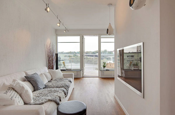 schönes modernes dach apartment weiß holz bodenbelag