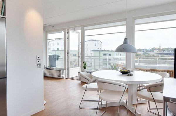 schönes städtisches dach apartment weiß pur design
