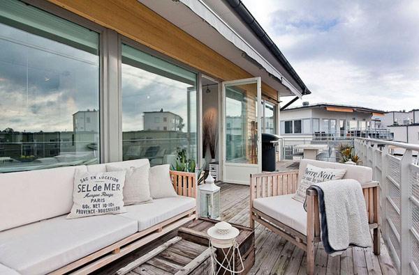 schönes modernes dachgeschoss apartment weiß ausstattung