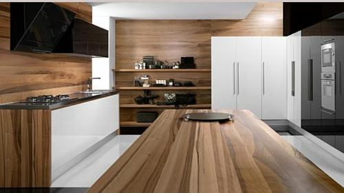 schicke küchen designs holz einrichtung gestalten originell