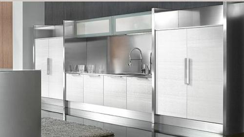 schicke küchen designs holz einrichtung grau