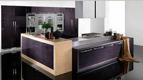 originelle küchen designs weiß glanzvoll beleuchtung dramatisch ambiente