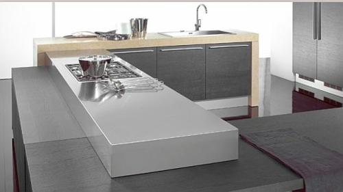 originelle küchen einrichtung weiß glanzvoll kochplatte spüle