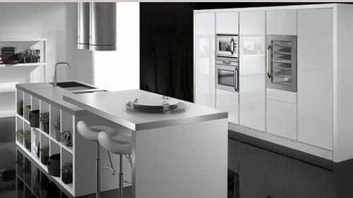 schicke küchen designs weiß glanzvoll kompakt