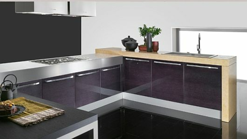 originelle küchen einrichtung weiß glanzvoll praktisch kompakt