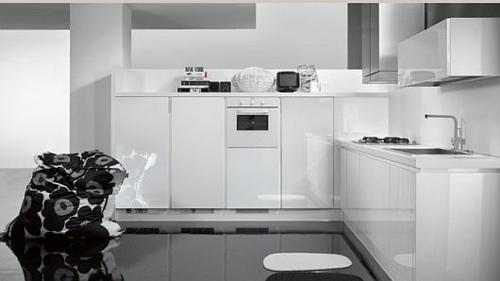 originelle küchen einrichtung  weiß glanzvoll trendy einrichtung