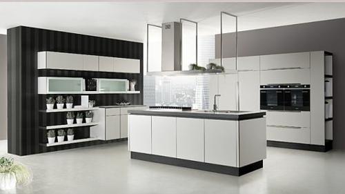 schicke küchen designs weiß glanzvoll weiß kücheninsel regale