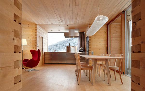schicke moderne holz küchen designs helles ambiente