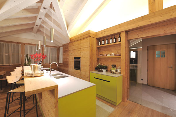 schicke moderne holz küchen designs wandregale küchenschrank