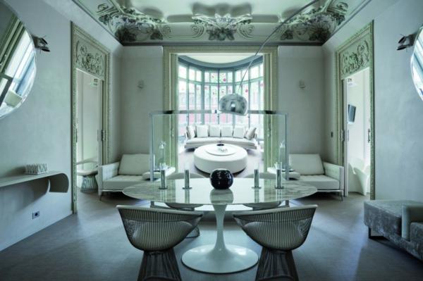 Barcelona Wohnen schickes zentrales hotel design in barcelona el palauet living
