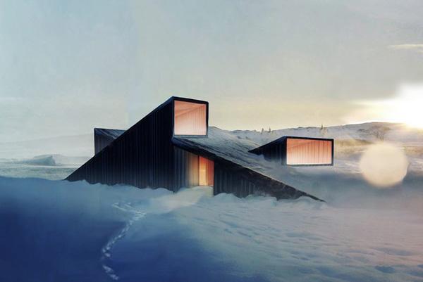 10 schicke moderne bergh tten von ber hmten architekten for Moderne skihotels