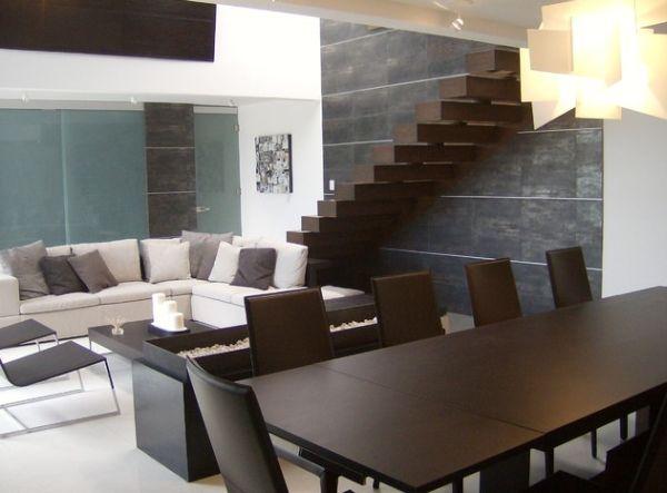 treppe wohnzimmer:Wohnzimmer offene treppe im wohnzimmer : 32 Schwebende Treppe Ideen