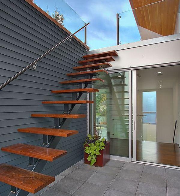 32 schwebende treppe ideen fürs zeitgenössische zuhause,