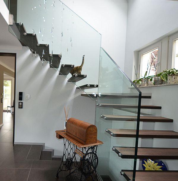 32 schwebende treppe ideen fürs zeitgenössische zuhause, Innenarchitektur ideen