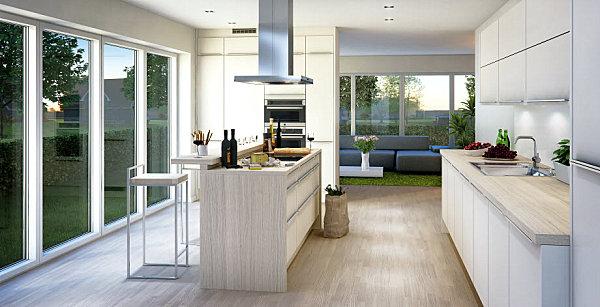 skandinavische küchen designs hell luftig interior