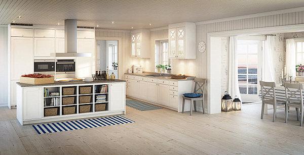 skandinavische küchen designs holz groß raum holz bodenbelag