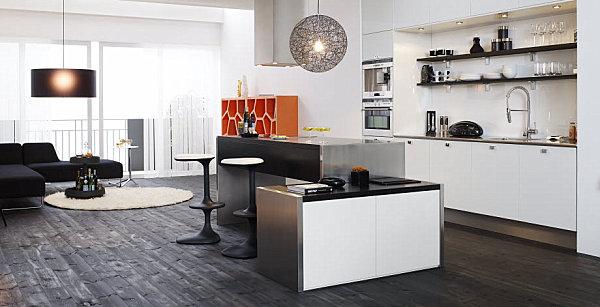 skandinavische küchen designs luxus interior essbereich