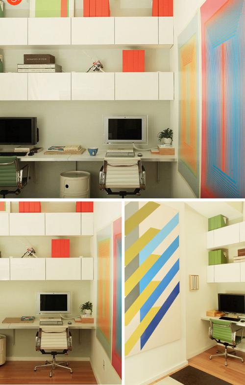 skurrile hausbüro ideen bunt IKEA stücke