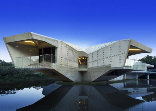 solides futuristisches haus design australien architektur