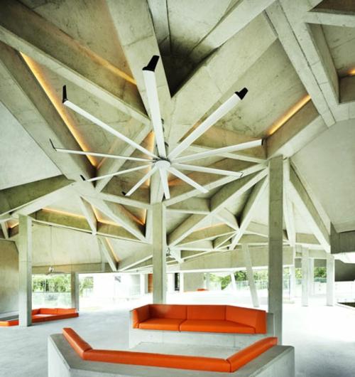 futuristishe Loft Wohnung Interieur