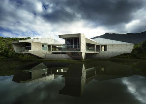 solides futuristisches haus design australien residenz