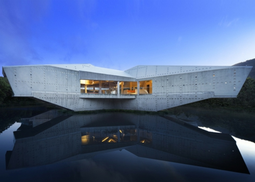 Solides futuristisches Haus Design in Australien gelegen
