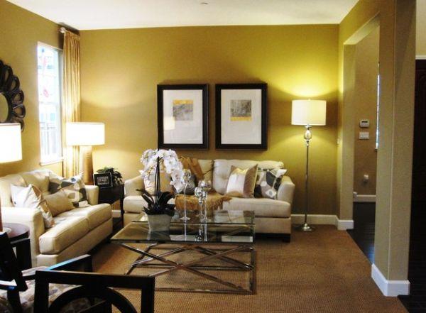 Wohnzimmer Gelb Schwarz