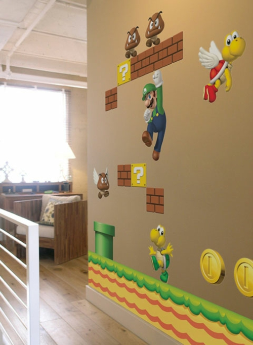 Toll Super Mario Wand Dekoration Im Kinderzimmer Idee