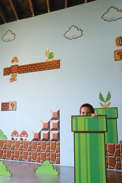 super mario wand dekoration im kinderzimmer von nintendo. Black Bedroom Furniture Sets. Home Design Ideas