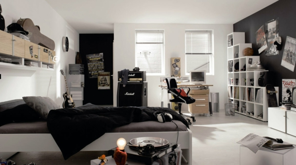 cooles trendy teenager zimmer f r jungen moderne einrichtung. Black Bedroom Furniture Sets. Home Design Ideas