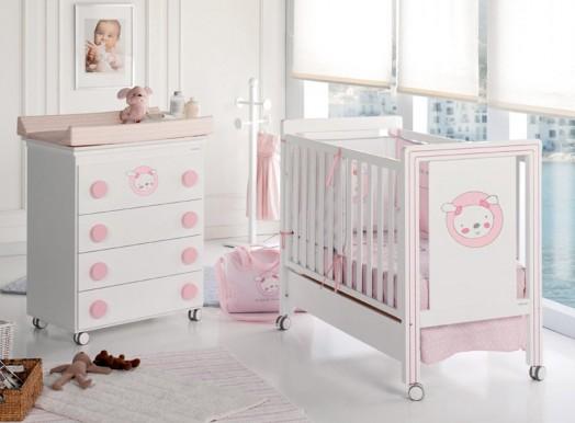 Trendy Kinderzimmer Möbel für Babys pastellfarben auf rollen