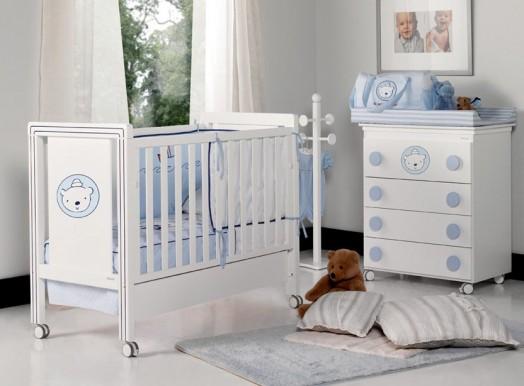 Trendy Kinderzimmer Möbel für Babys pastellfarben babybett