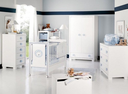 Trendy Kinderzimmer Möbel für Babys pastellfarben männlich