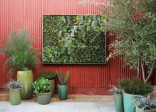 vertikalen garten gestalten rahmen wand flora grubb gardens