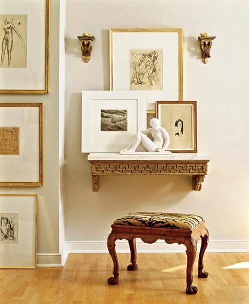 wand dekoration mit bildern klassisch einrichtung wohnung