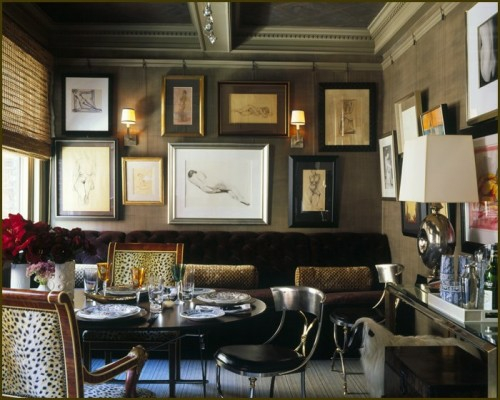 wand dekoration mit bildern sofa extravagant einrichtung