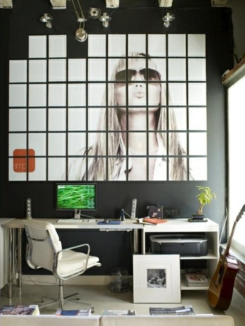 wand dekoration mit bildern 29 kunstvolle wandgestaltung ideen. Black Bedroom Furniture Sets. Home Design Ideas