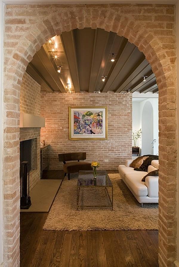 wandgestaltung mit ziegeln f r einen rustikalen blickpunkt. Black Bedroom Furniture Sets. Home Design Ideas