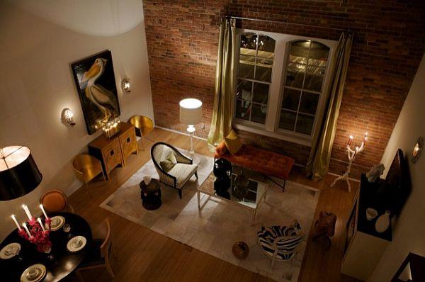 ideen : geräumiges wandgestaltung wohnzimmer grau rot funvit ...