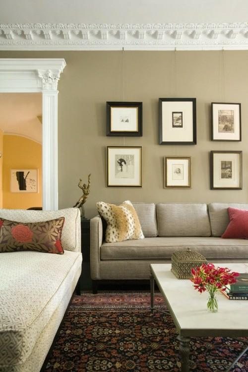 wand dekoration mit bildern 29 kunstvolle wandgestaltung. Black Bedroom Furniture Sets. Home Design Ideas