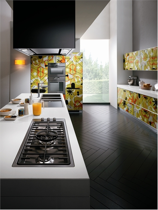 wunderbare moderne küchen möbel aus glas esszimmer holz boden belag