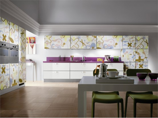 wunderbare moderne küchen möbel aus glas von scavolini, Kuchen