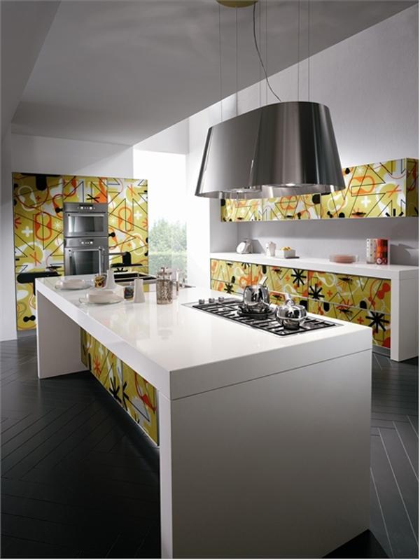 wunderbare designer küchen möbel aus glas insel glanzvoll oberfläche