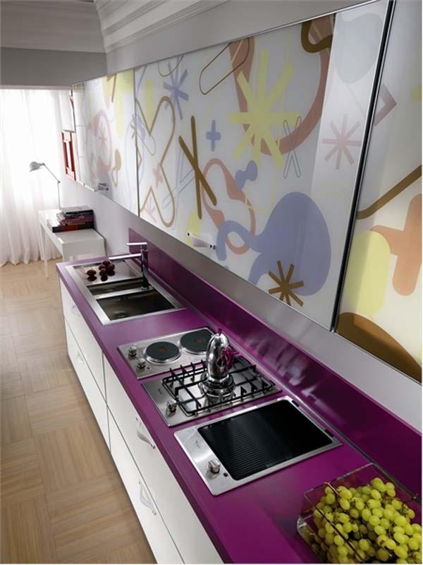 Wunderbare Designer Küchen Möbel Aus Glas Kochplatte Herd