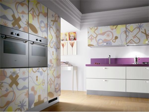 wunderbare moderne küchen möbel aus glas technologisch