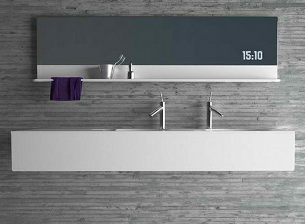 Tropische Badezimmer Sehr Modern Große Gläserne ...