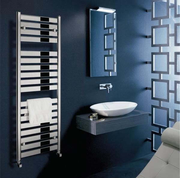 Zen Badezimmer Waschbecken Design Dunkle Wände