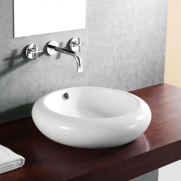 Waschbecken rund  Zen Bad Waschbecken von Omvivo entworfen und designt