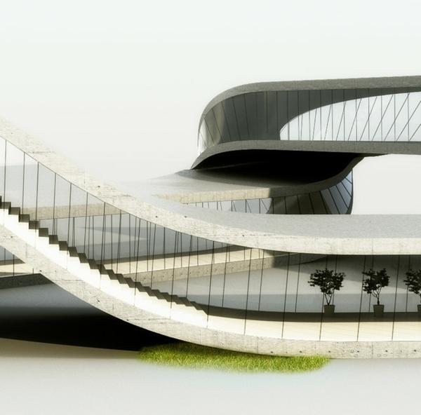 3d druck für architektur visualisierung modell treppe